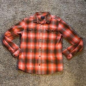Fox Racing flannel button down men's sz M